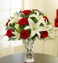 Crystal Vase Holiday Arrangement